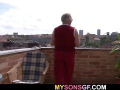 horny old chap seduces his sons gf