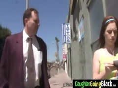 young daughter with admirable booty screwed by a
