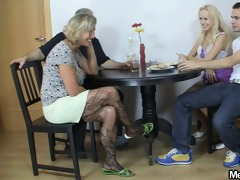 blonde girl have enjoyment fucking with old