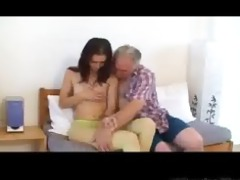 small tittted playgirl acquires fucked by grandpa