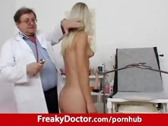 awesome blonde uma zex harassed by old gyno medic