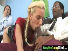 sexy juvenile daughter get screwed hard by black