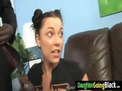 my daughter devours big black dick in her