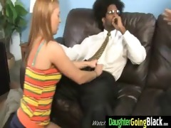 young daughter with nice booty fucked by a black
