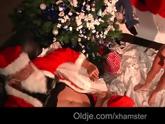 smutty santa slaps and fucks nasty lola