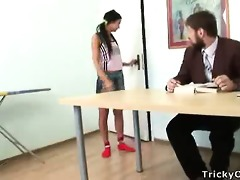 nasty teen substitutes studying with fucking