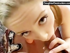 sweet legal age teenager daughter fucks like a pro