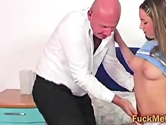 tee gal blow old bulky cock