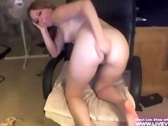 blond college girl marie masturbates