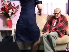 euro fetish nurse strokes old knob