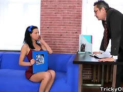 kristina is a hot student who will engulf her