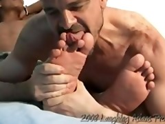 jeromes foot worship - mike and jerome