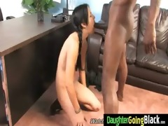 tight young legal age teenager takes large black