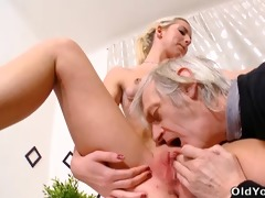 nelya gets her breasts licked and sucked by her