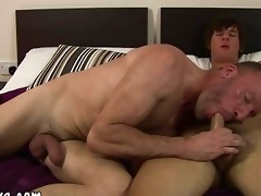 older guy tasting fresh ravishing young cock for