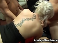 older men play with younger blondes