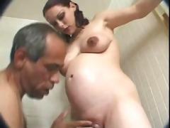youthful prego copulates older man