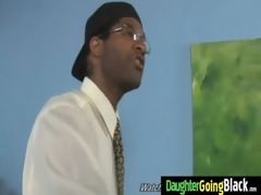 youthful daughter gets pounded by big black