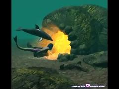 3d comic: mermaid