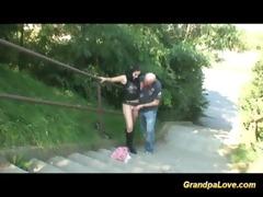 grandpa copulates legal age teenager in public