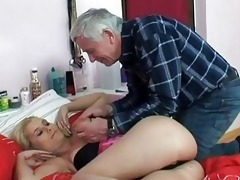 nasty old stud screws young blonde