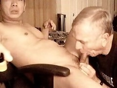 grandpa like to suck ramrod and eat cum