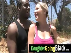 hawt daughter cock engulf and interracial fuck 8