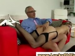aged chap younger girl fingering