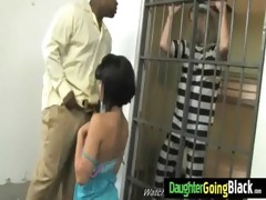 young daughter with nice butt screwed by a black