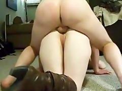 daddy fucks her butt