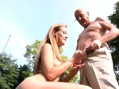 grand-dad cleans and fuck alexis\s shaved pussy