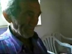 my perverted girlfriend masturbate a very old man