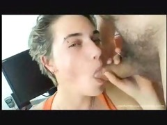 horny shorthaired sucks the old fellow