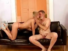granddad fucks his juvenile girlfriend