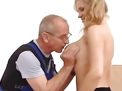 young girl screwed in the ass by old