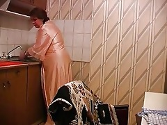 son fucks mother at the kitchen