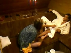 large brother czech oral sex in sauna