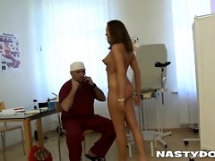 old gynecologist can not resist young girl fur pie