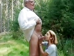 juvenile girl helping an old dude wi...