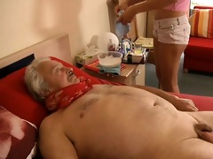 sexy, juvenile nurse bonks horny, sick older man