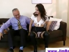 older boy fucks younger fishnet hottie