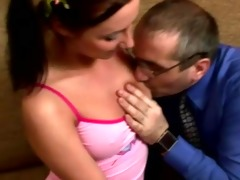 russian student girl gets fucked by tricky old