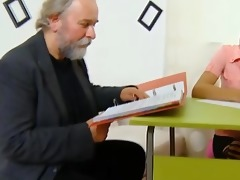 cute schoolgirl fucked by her tricky old teacher
