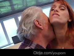 fortunate grandpa gustavo fucks sexy young babe