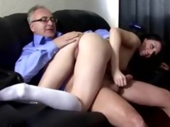 slutty school cutie acquires pussy drilled by