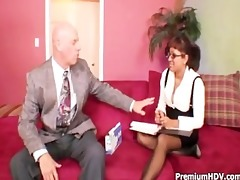 round boobs sweetheart fucks with boss