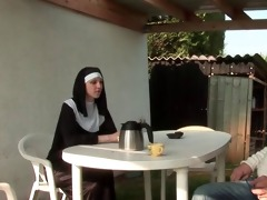 french nun anal fucked in threesome